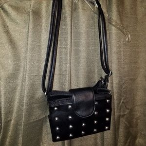 Small studded purse